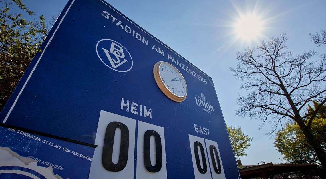 Generalprobe im Panzenberg Stadion