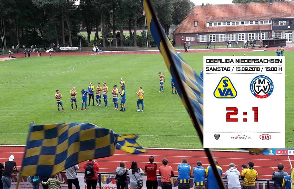 Atlas siegt 2:1 gegen Wolfenbüttel