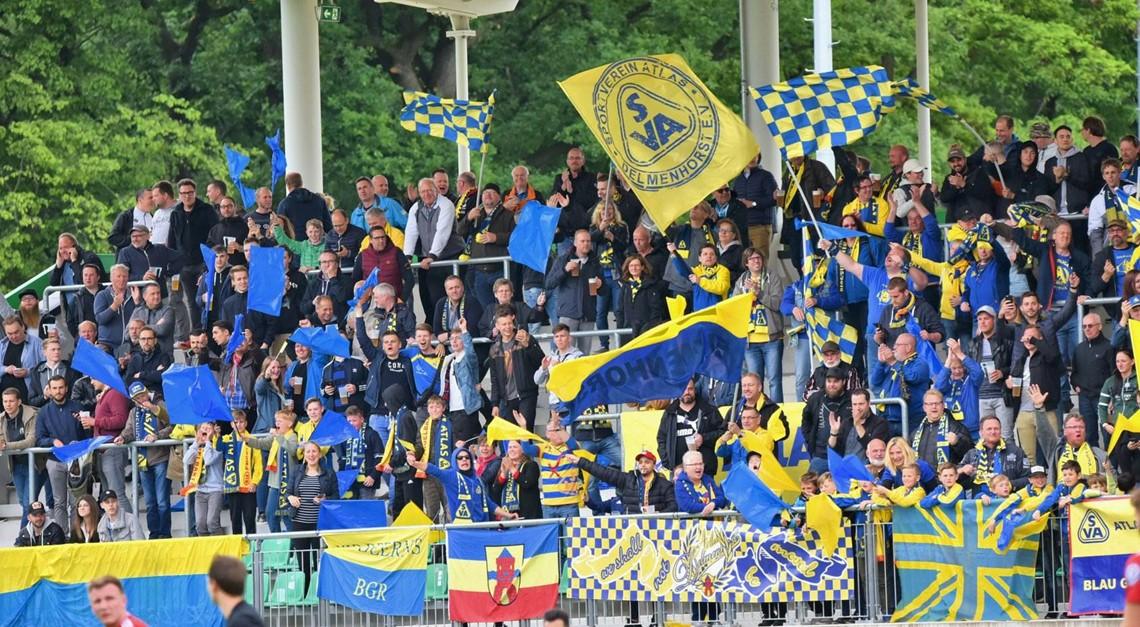 Delmenhorster Völkerwanderung zum DFB-Pokalspiel