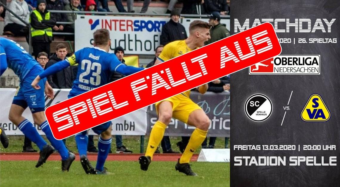 SC Spelle-Venhaus vs. SV Atlas - SPIEL FÄLLT AUS!