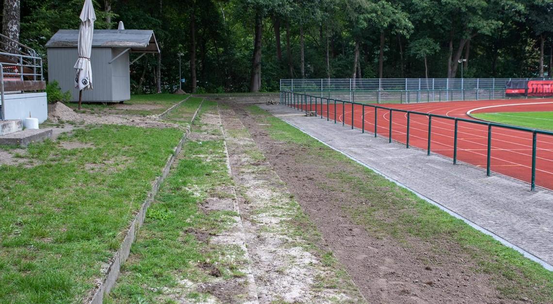 Arbeiten im Delmenhorster Stadion gehen gut voran
