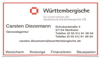 Sponsor - Württembergische Versicherung: Carsten Diezema