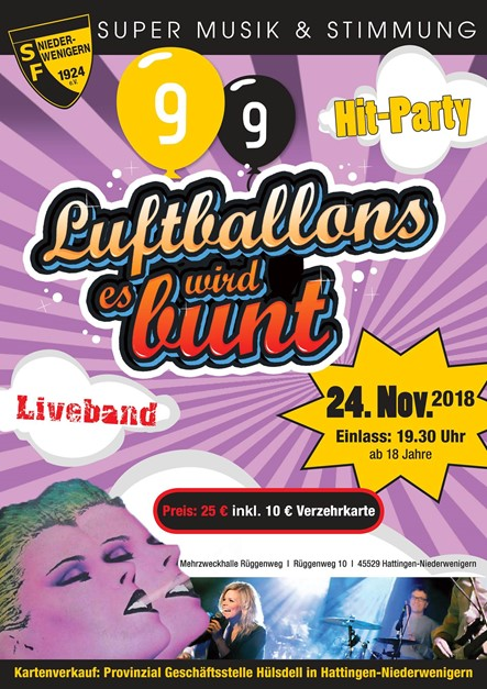 Hit-Party - es wird bunt!
