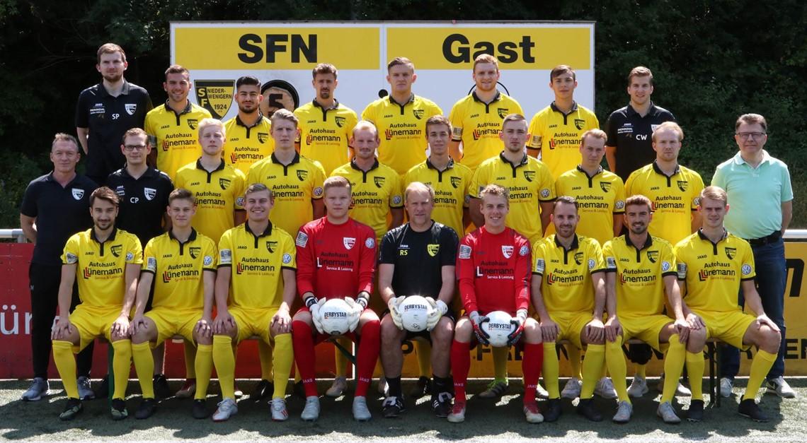 Der Oberliga-Kader der Sportfreunde Niederwenigern