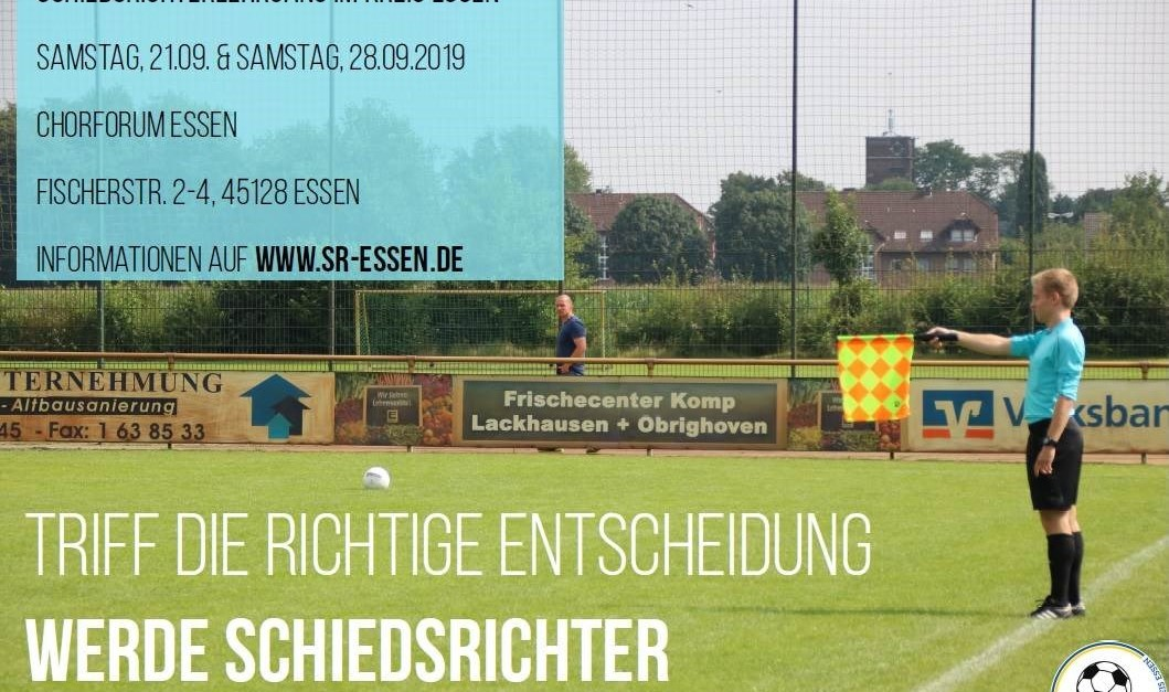 Schiedsrichter-Neulingslehrgang startet am 21.09.