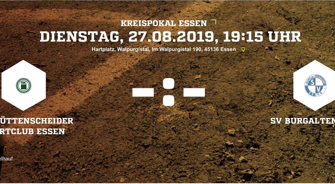 Kreispokalspiel gegen DJK Rüttenscheider Sportclub