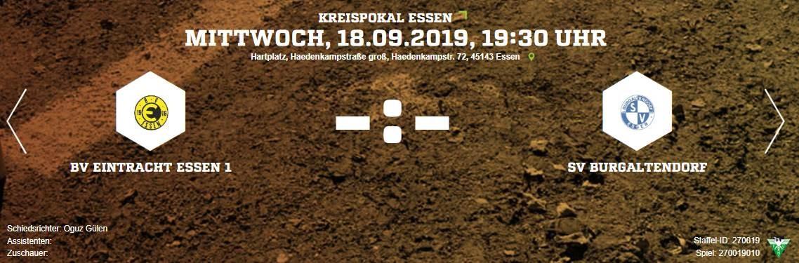 ABSAGE des Kreispokalspiels gegen Eintracht 16