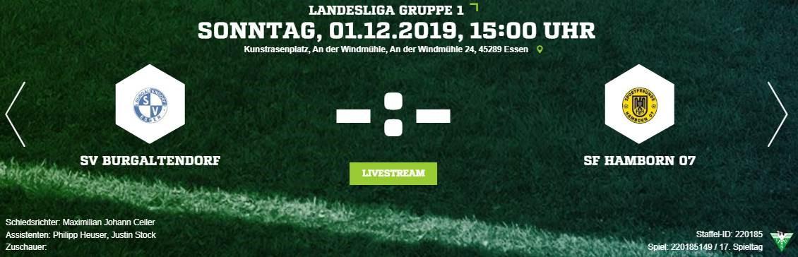 Heimspiel gegen Hamborn 07