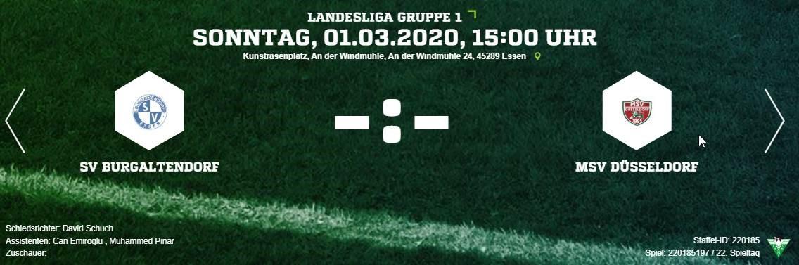 Heimspiel gegen MSV Düsseldorf