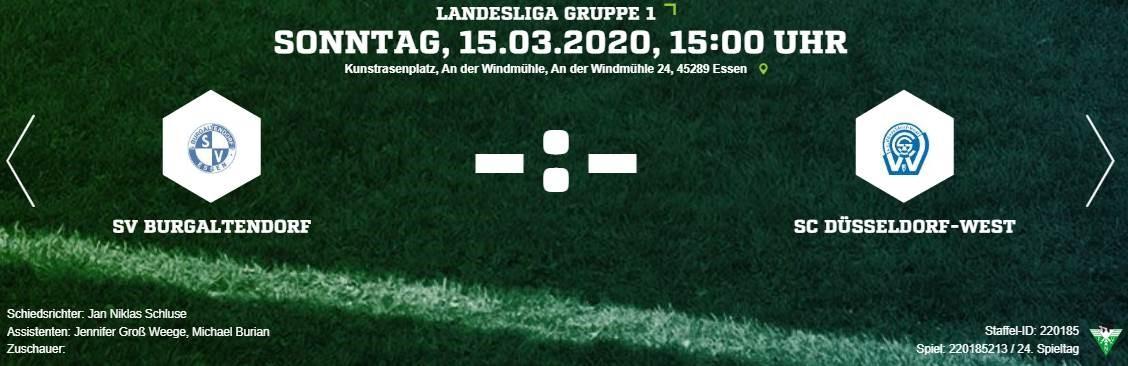 Spiel gegen SC Düsseldorf-West