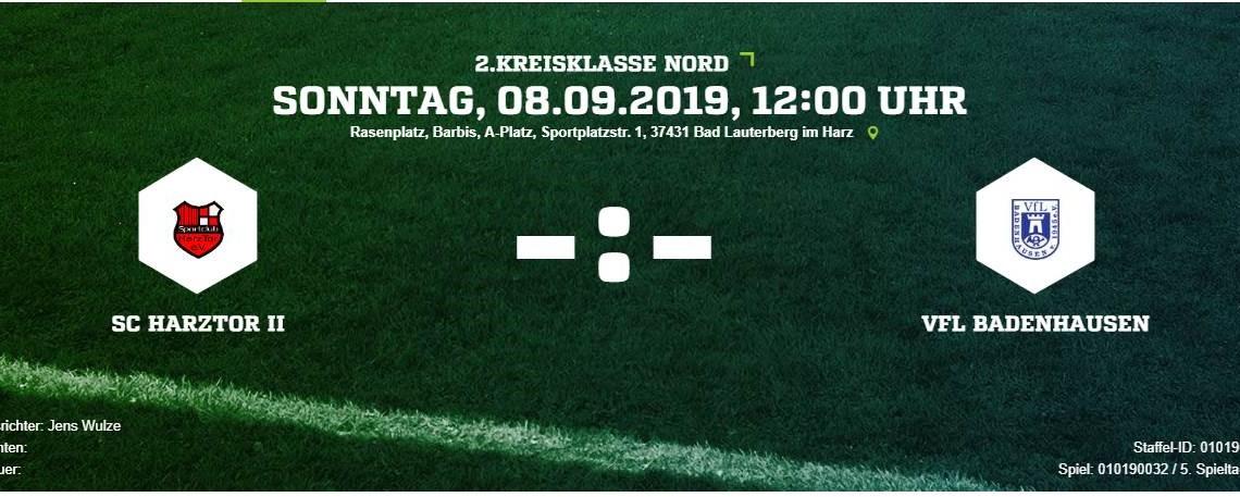 Die zweite empfängt den VfL Badenhausen
