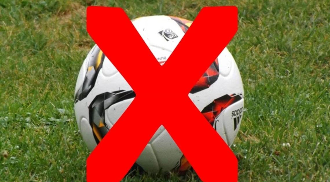 Fußballbetrieb vorerst abgesagt
