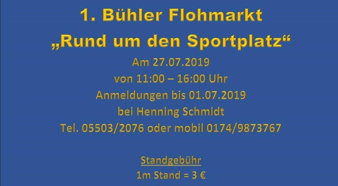 """Flohmarkt """"Rund um den Sportplatz"""""""