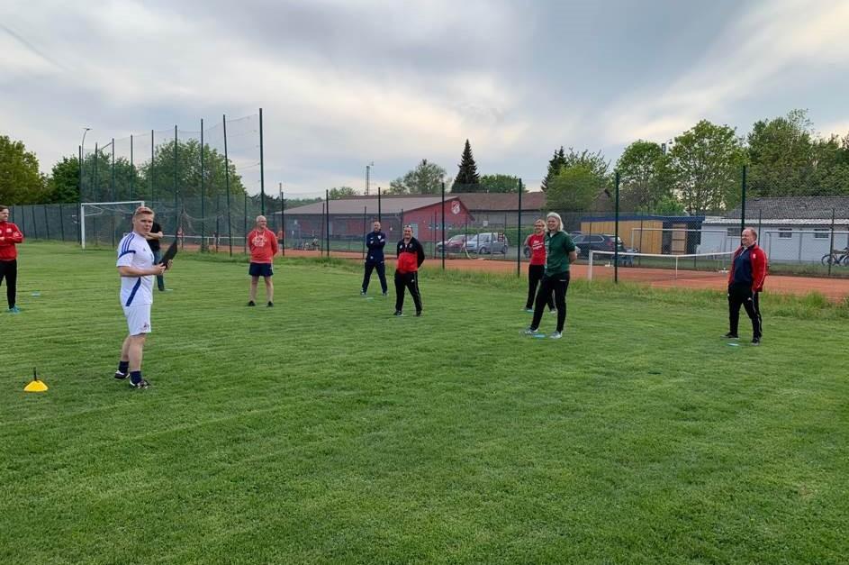 Corona-Trainings-Workshop am Sportplatz Rosdorf