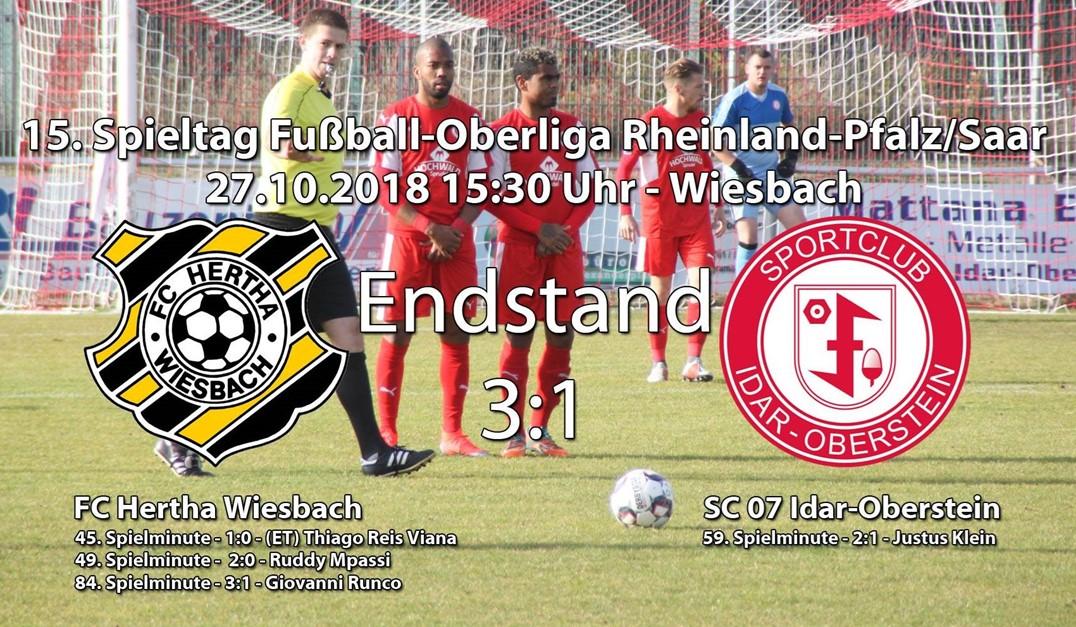 Wiesbach gewinnt mit 3:1 gegen Idar