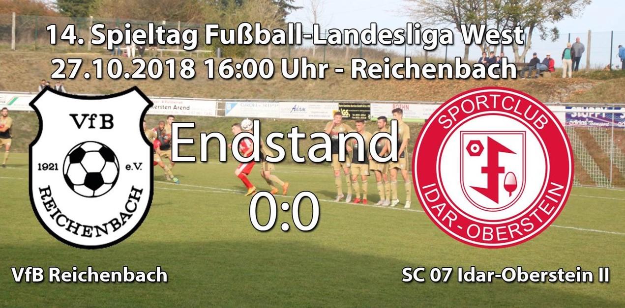 Unentschieden beim VfB Reichenbach