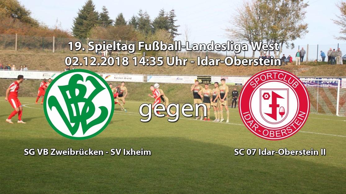 Gastspiel für die U23 in Zweibrücken