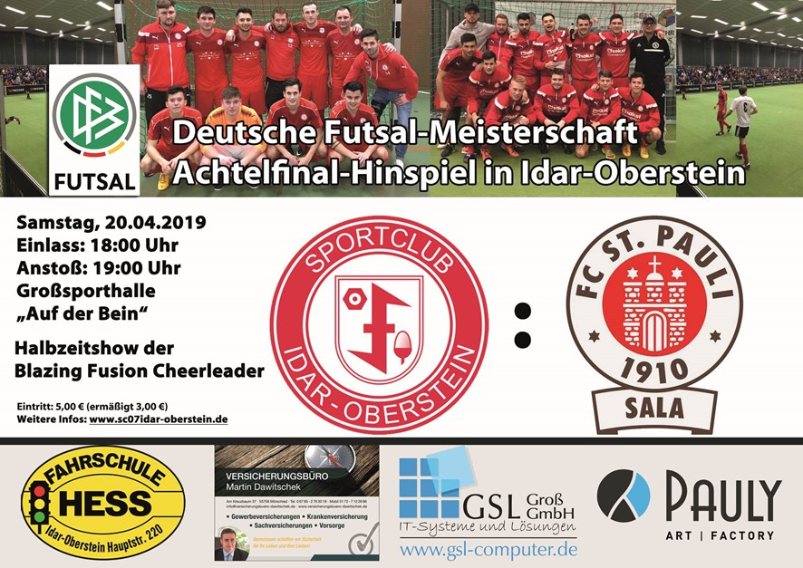 SC 07 Idar-Oberstein gegen FC St. Pauli Sala