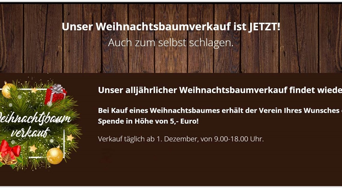 Weihnachtsbaum kaufen und 5€ für den SC spenden