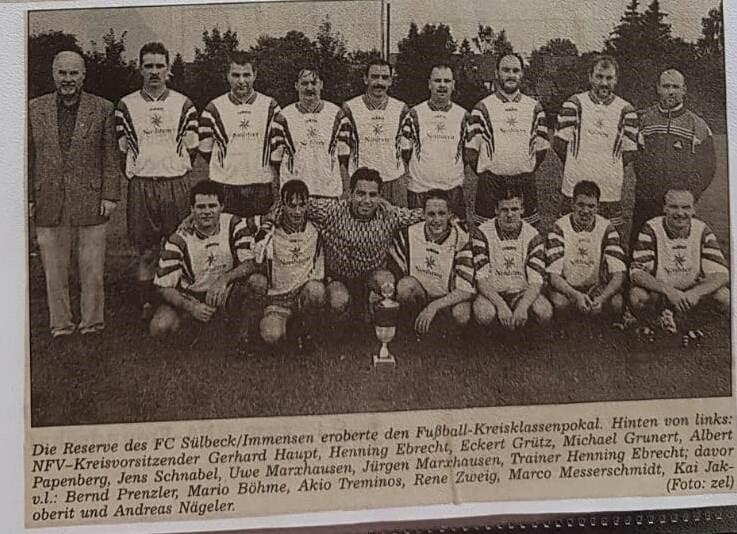 FC Sülbeck/Imm. II gewinnt Pokal im Jahr 2000