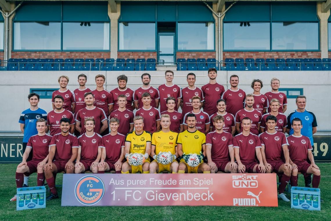 Mannschaftsfoto 1. FC Gievenbeck 2