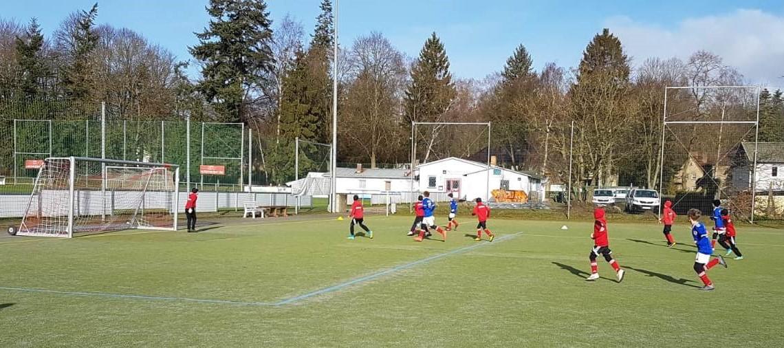 Testspiel der E-Junioren