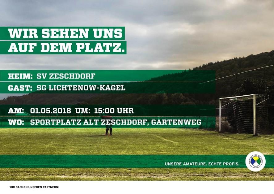 Auswärtsspiel gegen SV Zeschdorf