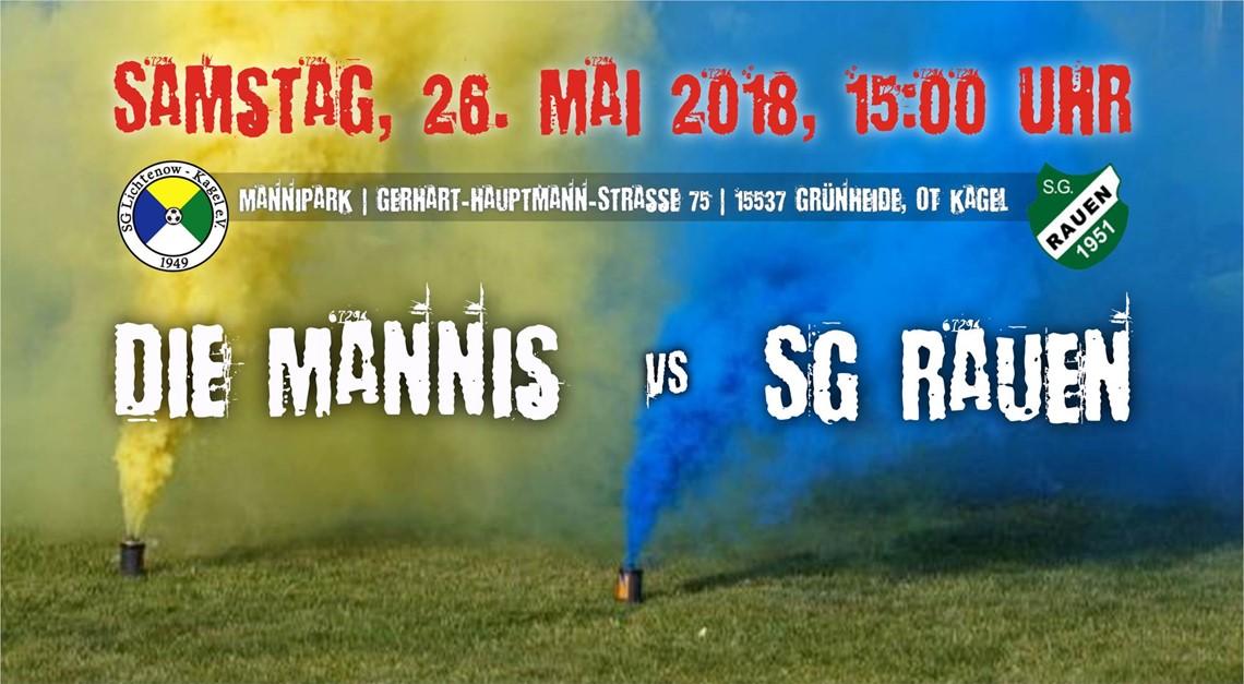 Heimspiel gegen SG Rauen