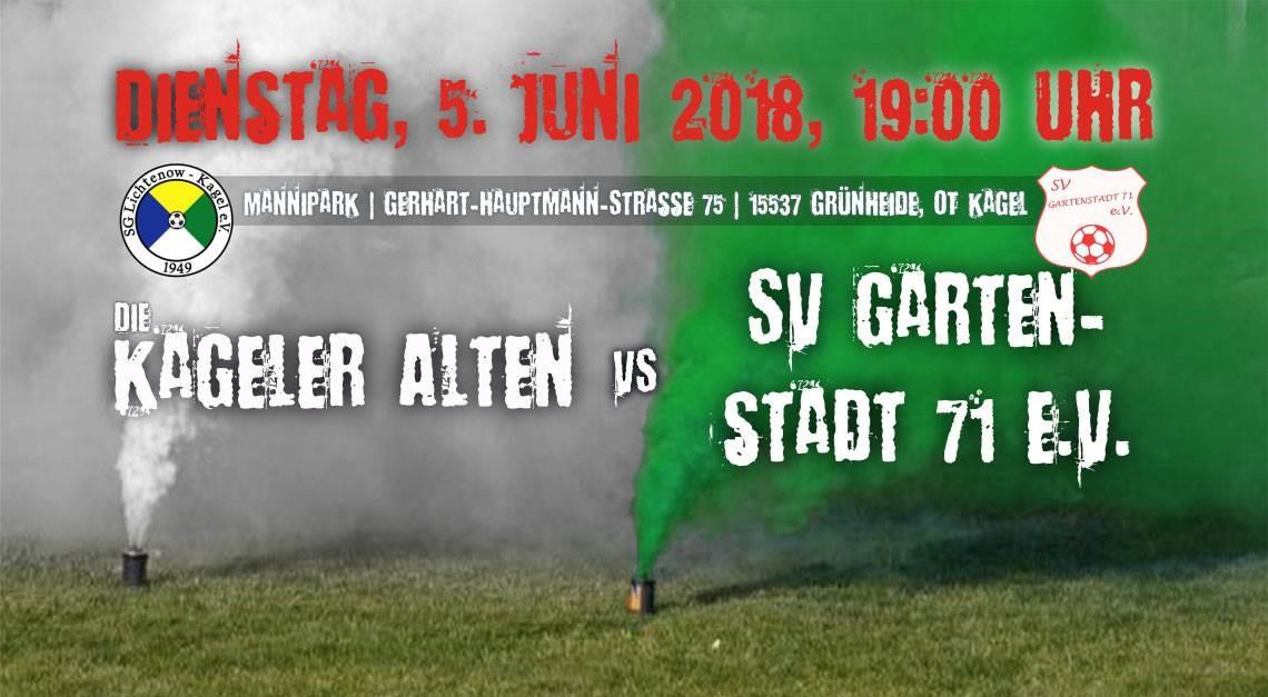 Heimspiel gegen SV Gartenstadt 71 e.V.