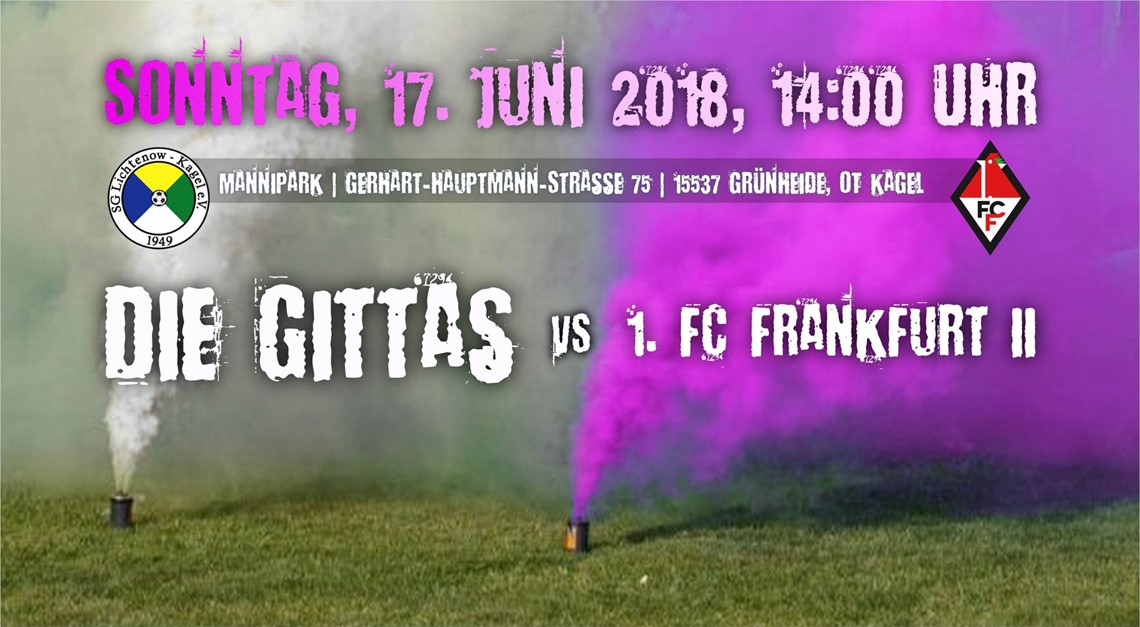 Heimspiel gegen 1. FC Frankfurt 2