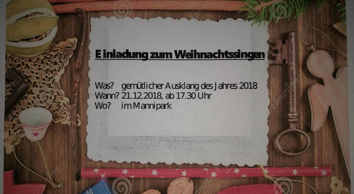 2. Weihnachtssingen im Mannipark