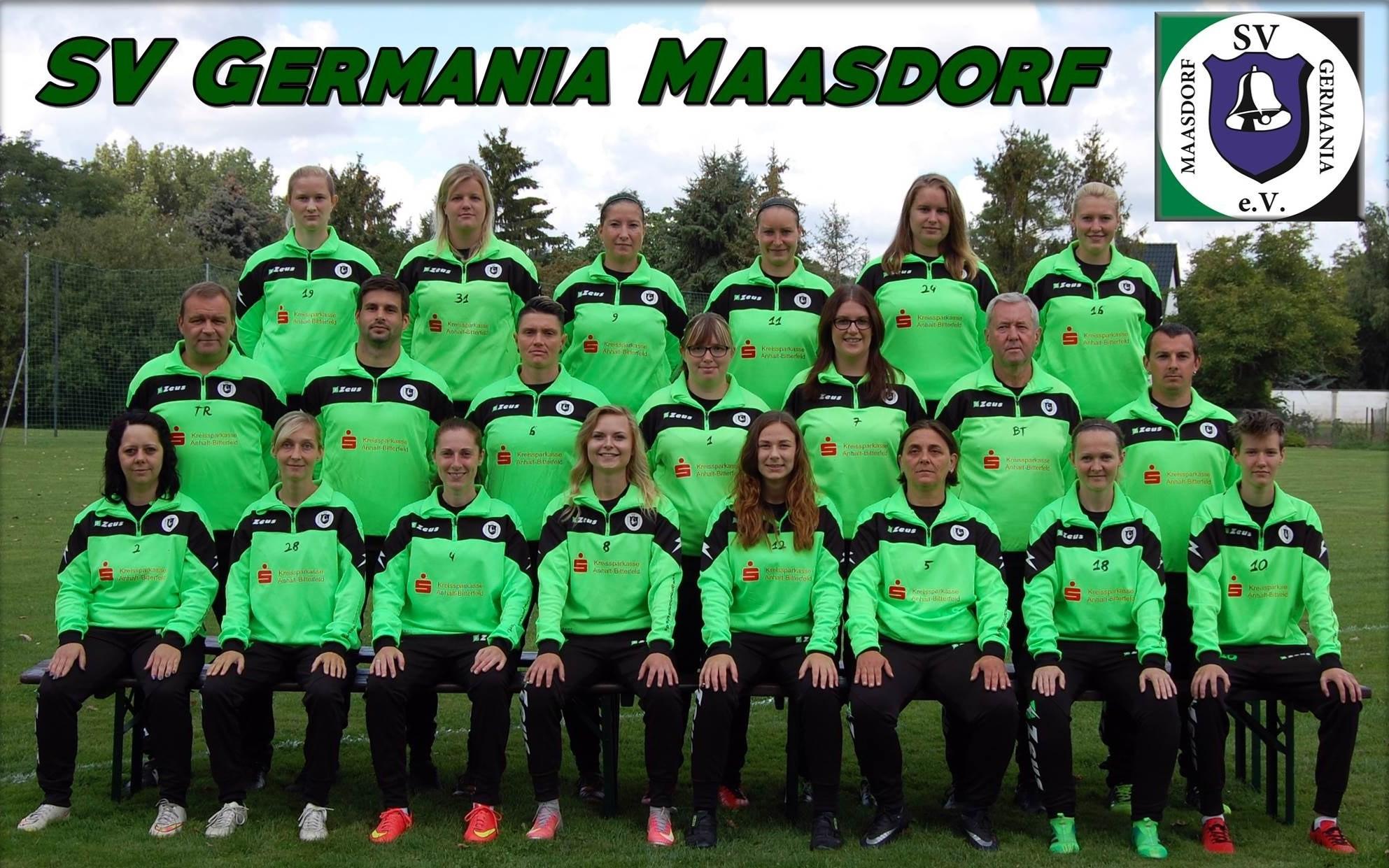 Mannschaftsfoto SV Germania Maasdorf