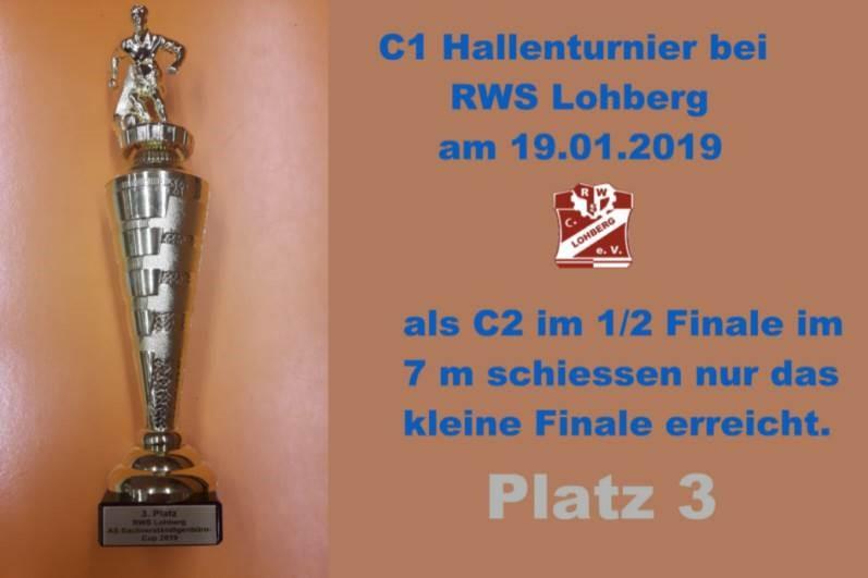C2 erreicht 3. Platz beim C1 Turnier