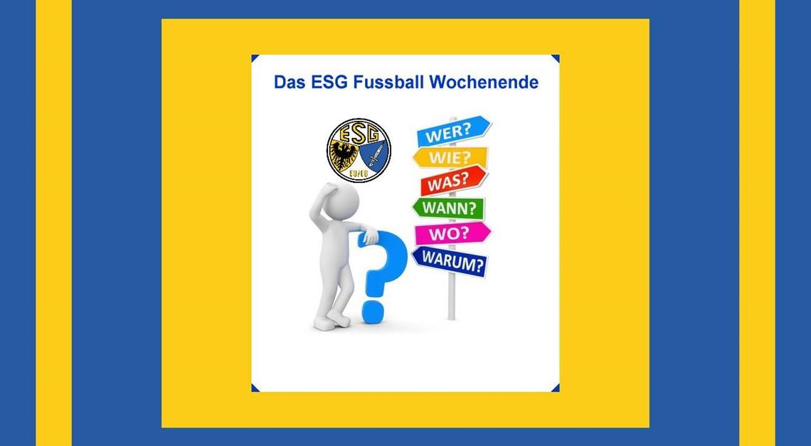 Das ESG Wochenende, WER-WANN-WO