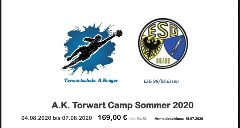 A.K. Torwart Sommercamp 04.08.- 07.08.20