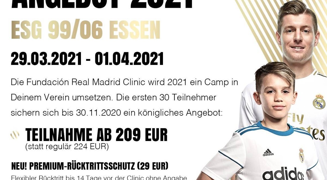 Real Madrid Camp 2021 - Jetzt anmelden