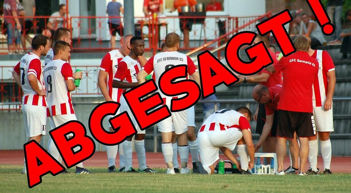Testspiel in Zerbst wurde abgesagt!