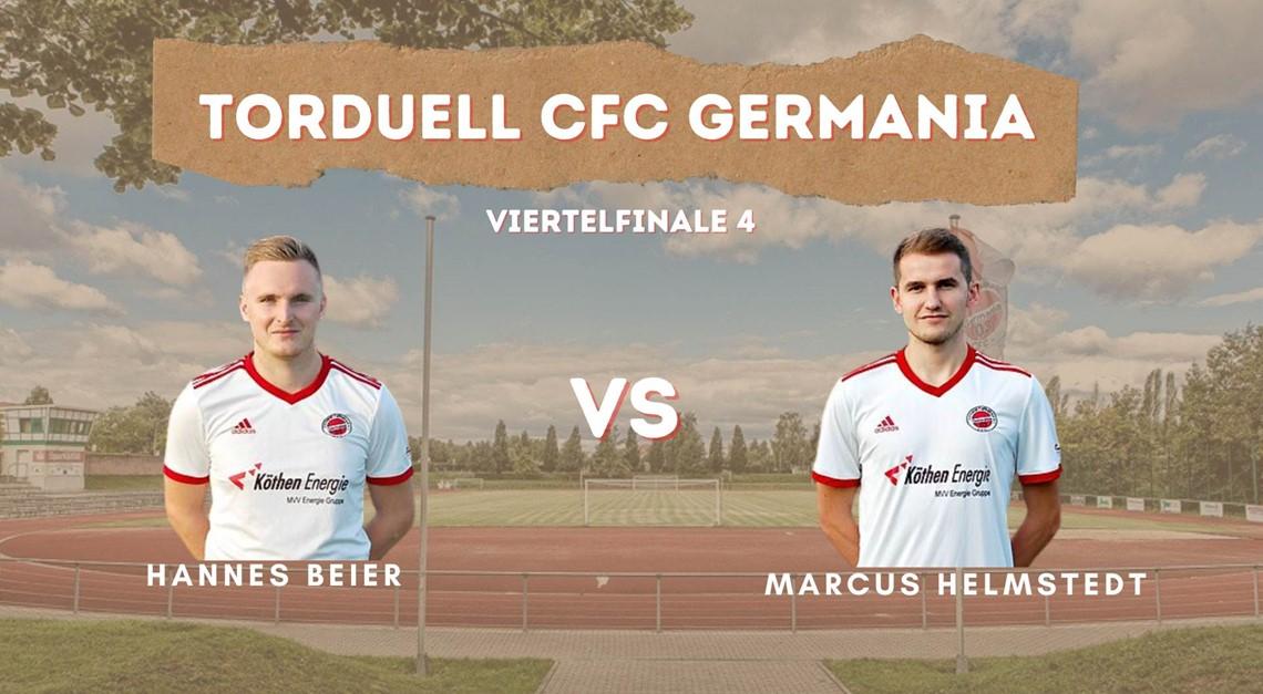 Letztes Viertelfinale: Beier vs. Helmstedt
