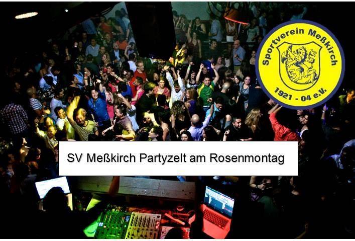 Reminder: SV Meßkirch Partyzelt am Rosenmontag