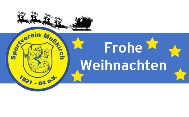 Der SV Meßkirch wünscht allen Frohe Weihnachten!