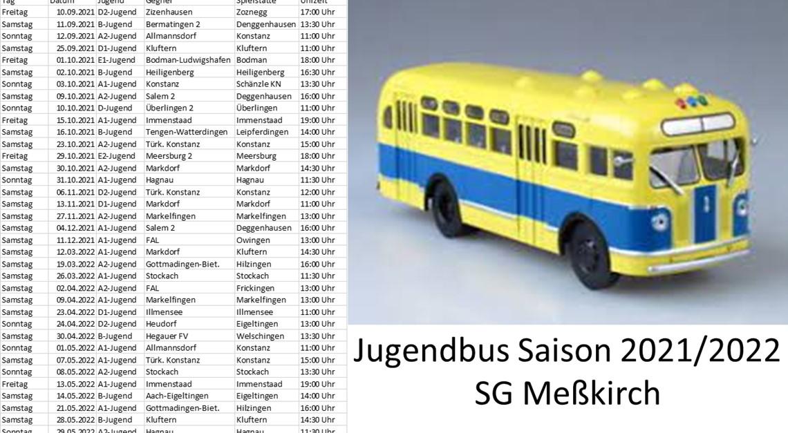 Busbelegungsplan Jugend Saison 2020/2021
