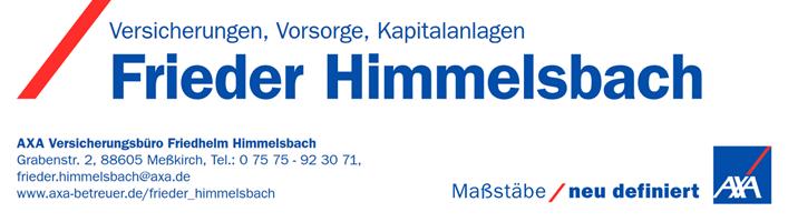 Sponsor - AXA Hauptvertretung Frieder Himmelsbach