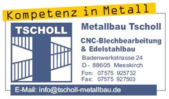 Sponsor - Metallbau Tscholl