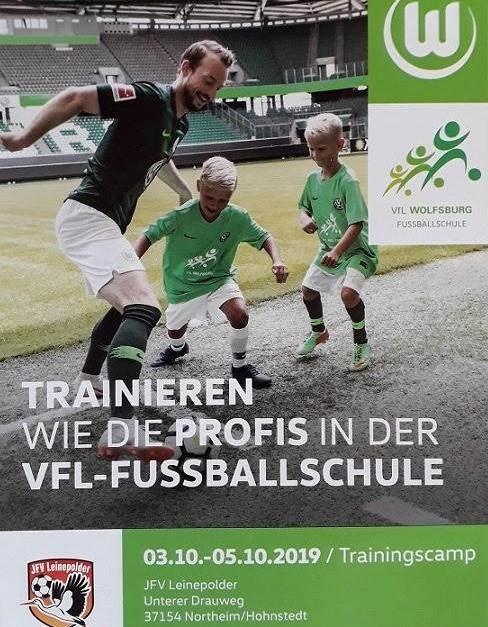 Jugendfußballcamp des VfL Wolfsburg am Leinepolder