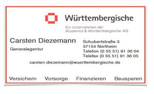Sponsor - Württembergische Versicherung: Carsten Diezemann
