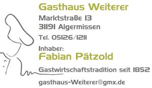 Sponsor - Gasthaus Weiterer
