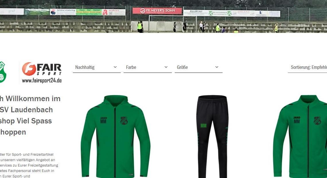 der neue Shop für professionelle Trainingskleidung