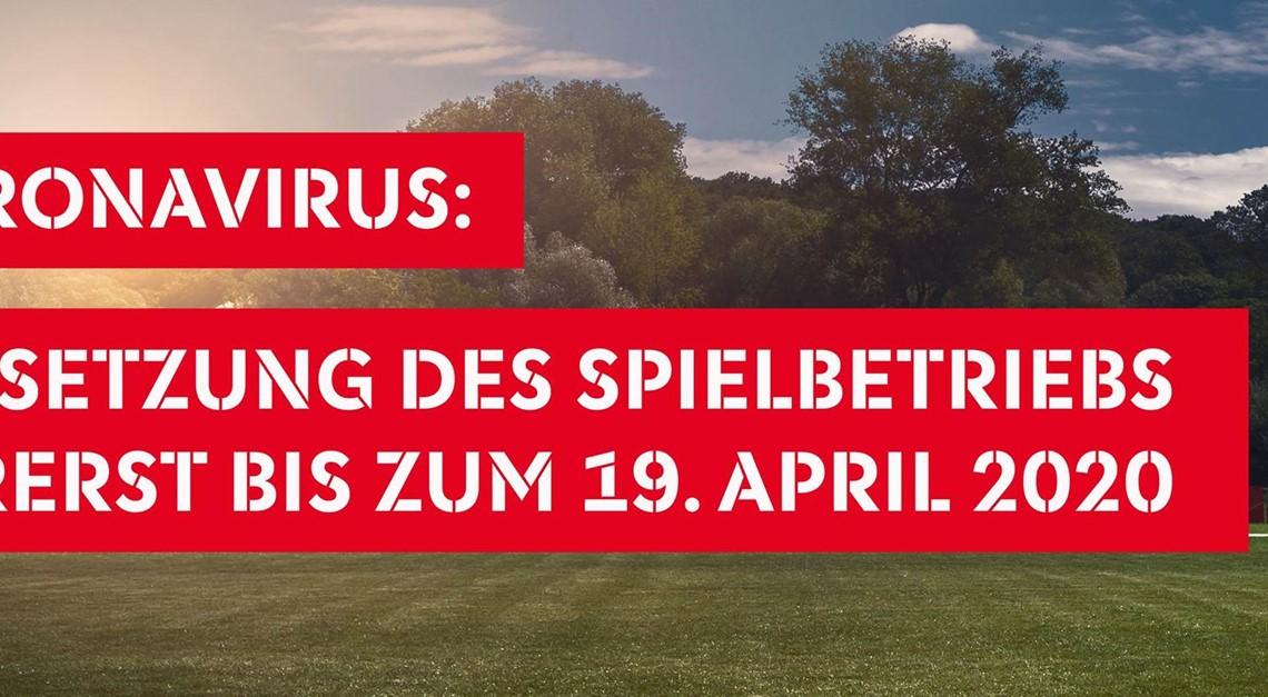 ⚠️ Aussetzung Spielbetriebs bis zum 19. April ⚠️