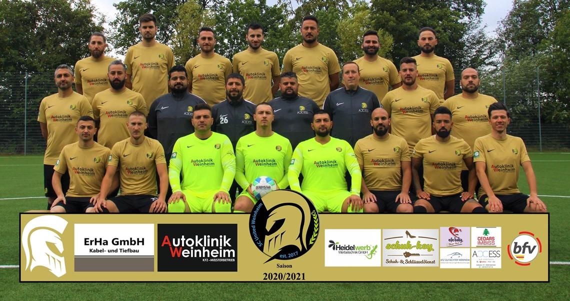 Mannschaftsfoto SC United Weinheim