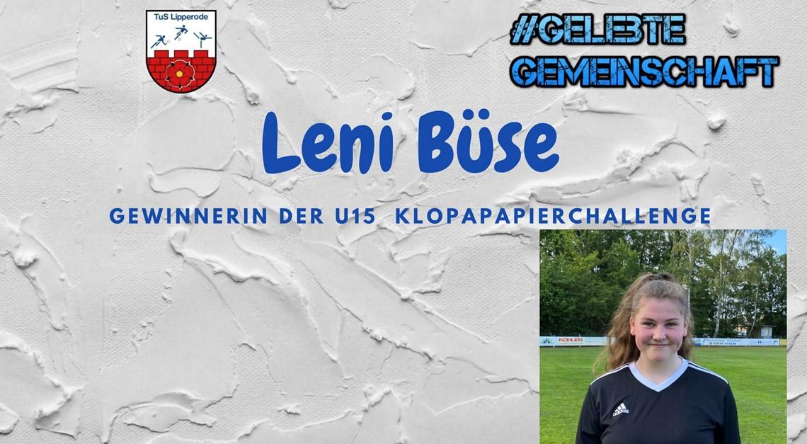 Leni gewinnt die Klopapierchallenge der U15